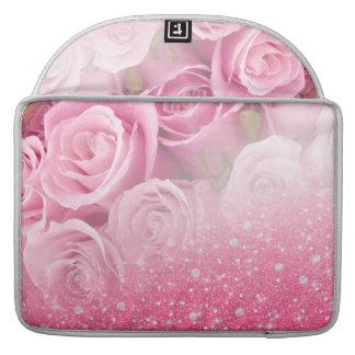 Rosa Imitat-funkelnd Glitter-Rose für Frauen und Sleeve Für MacBook Pro