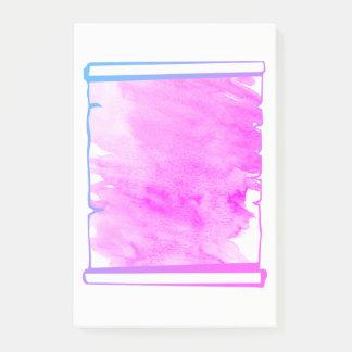 Rosa Iridescence-Aquarell-Rolle-Planer Post-it Klebezettel