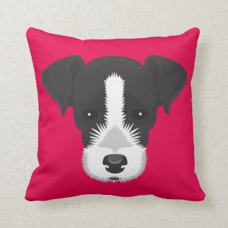 Rosa Jack-Russell-Terrier Kissen