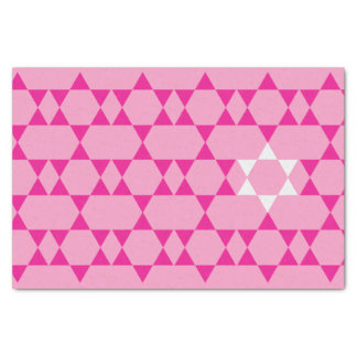 Rosa jüdisches SternSeidenpapier Seidenpapier