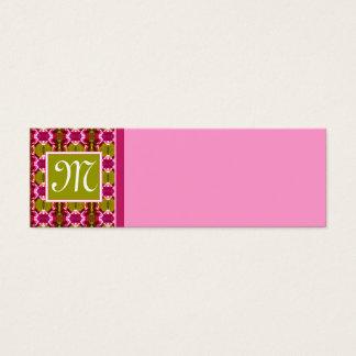 Rosa Juwel-Muster Mini Visitenkarte