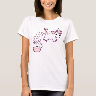 Rosa kackender Unicorn T-Shirt
