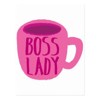 Rosa Kaffeetasse Chef-Damen- Postkarte