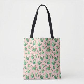 Rosa Kaktus blüht Taschen-Tasche Tasche