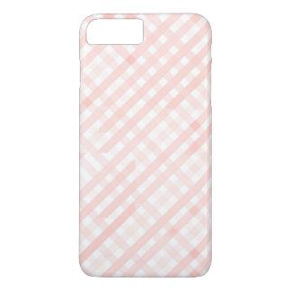 Rosa karierte Linie Stripes iPhone 7 PLUSkasten iPhone 8 Plus/7 Plus Hülle