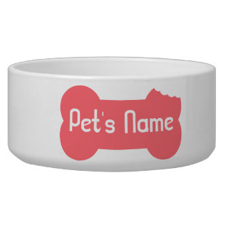 Rosa kaute Knochen-personalisierte Hundeschüssel 5 Hundenäpfe