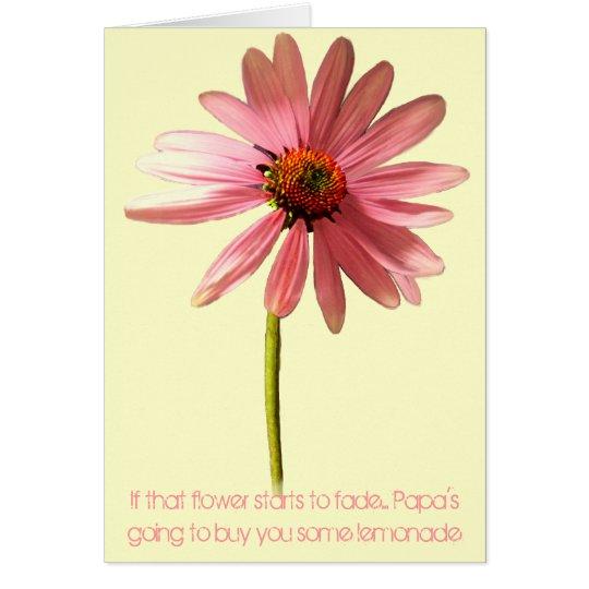 Rosa Kegel-Blume, wenn diese Blume beginnt zu Karte