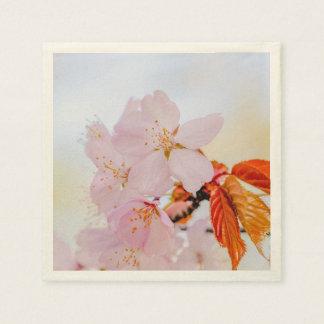 Rosa Kirschblüte-Blumen Servietten