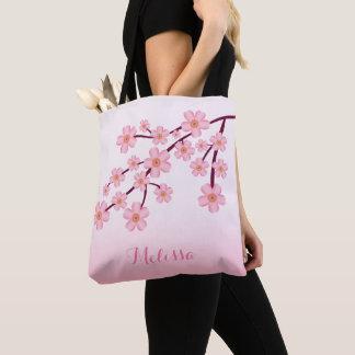 Rosa Kirschblüten-Kirschblüteblumenniederlassung Tasche