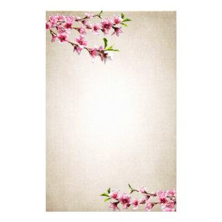 Rosa Kirschblüten Vintages TAN Druckpapier