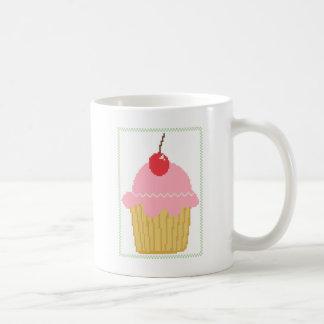 rosa Kirschkleiner kuchen Tasse