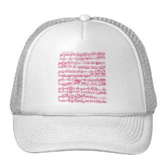 Rosa klassische NeonNoten (Beethoven) Kappe