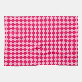 Rosa Kombinations-Diamant-Muster durch Shirley Geschirrtuch