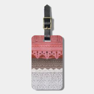 Rosa korallenrotes Haus Gepäckanhänger