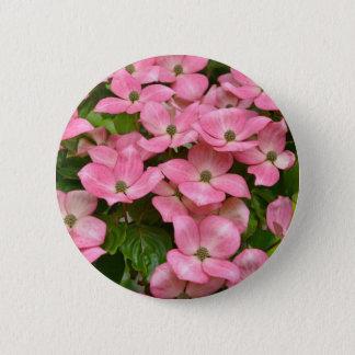 Rosa kousa Hartriegel-Blumendruck Runder Button 5,7 Cm