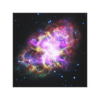 Rosa Krabben-Nebelfleck-Raum-Bild Leinwanddruck