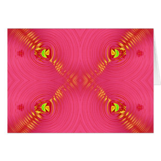 rosa Kräuselung Karte