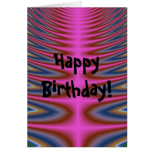 Rosa Krawatten-alles- Gute zum Geburtstagkarte Karte