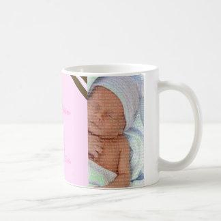 Rosa Kronen-Baby-Foto-Collagen-Tasse Tasse