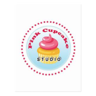 Rosa Kuchen-Studio Postkarte