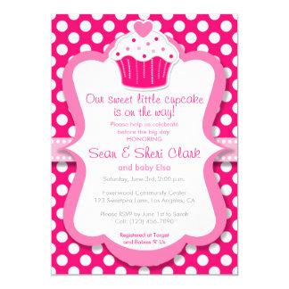 Rosa Kuchen Tupfen Mu0026#228;dchen Babyparty Einladung Karte
