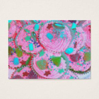 Rosa Kuchen-Visitenkarte mollig Visitenkarte