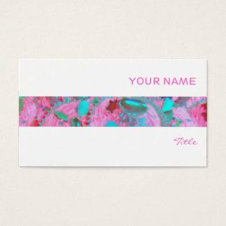 Rosa Kuchenstreifen-Visitenkarteweiß Visitenkarte