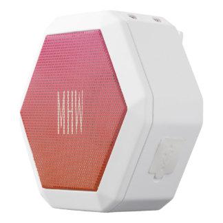 Rosa - kundenspezifischer Monogramm-Lautsprecher Weiße Bluetooth Lautsprecher