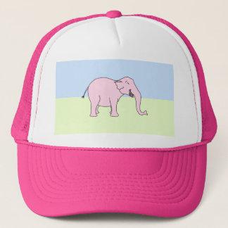 Rosa lachender Elefant Truckerkappe