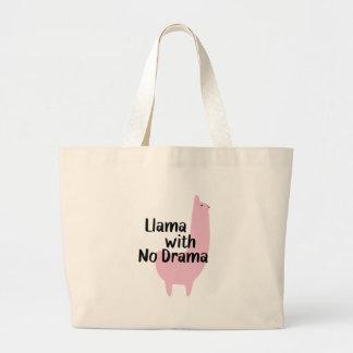 Rosa Lama-Tasche Jumbo Stoffbeutel