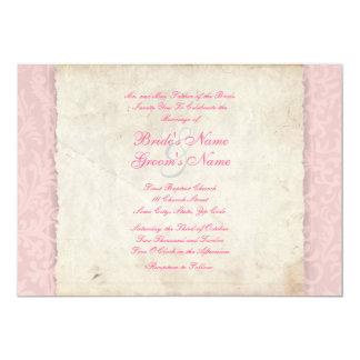Rosa Land-Hochzeits-Einladung 12,7 X 17,8 Cm Einladungskarte