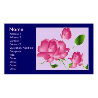Rosa Lavendel-Rosen-Floristen- Visitenkarte