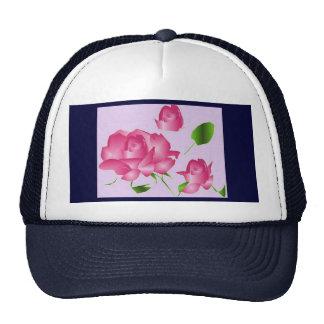 Rosa Lavendel-Rosen- Hut Netz Caps
