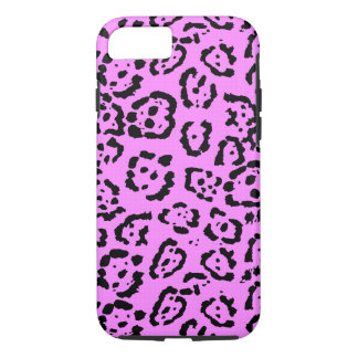 Rosa Leopard-Druck-Tier-Neonmuster iPhone 8/7 Hülle