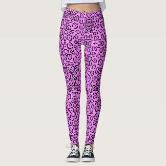 Rosa Leopard-Druck-Tier-Neonmuster Leggings
