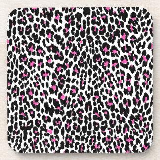 rosa Leoparddruck Untersetzer