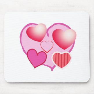 Rosa Liebe-Ausdruck - Herzen Mousepad