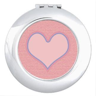 rosa Liebe girly Taschenspiegel