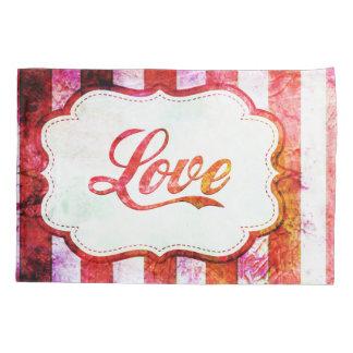Rosa Liebe mit Streifen Kissenbezug