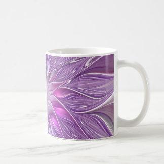 Rosa lila Blumen-Leidenschafts-abstrakte Kaffeetasse