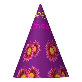 rosa lila Blumen-Partyhut Partyhütchen