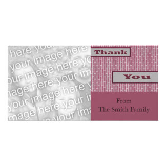 rosa Lila danken Ihnen Photo Grußkarte