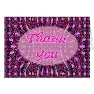 rosa Lila danken Ihnen Karte