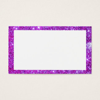 Rosa lila Glitzer-funkelnd Geschäfts-Karten 2 Visitenkarte