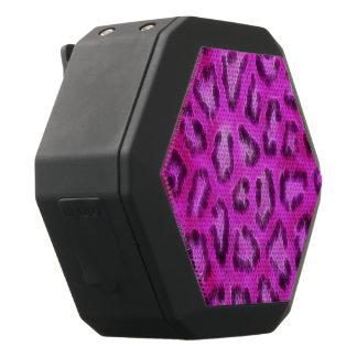 Rosa lila strukturierter Cheetah abstrakt Schwarze Bluetooth Lautsprecher
