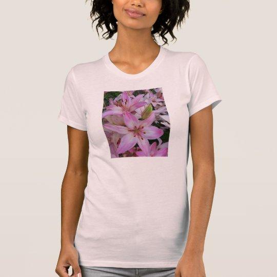 Rosa Lilien T-Shirt