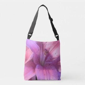 Rosa Lilien-Taschen-Tasche Tragetaschen Mit Langen Trägern