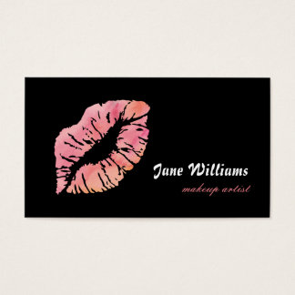 Rosa LippenMaskenbildner Visitenkarte
