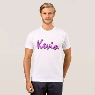 Rosa Logo Kevins auf Crewhals T-Shirt