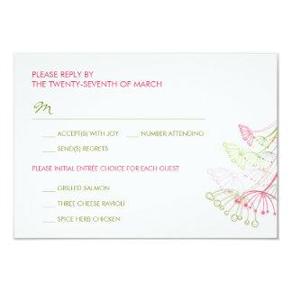Rosa Löwenzahn-Blumen-Frühlings-Hochzeit UAWG 8,9 X 12,7 Cm Einladungskarte
